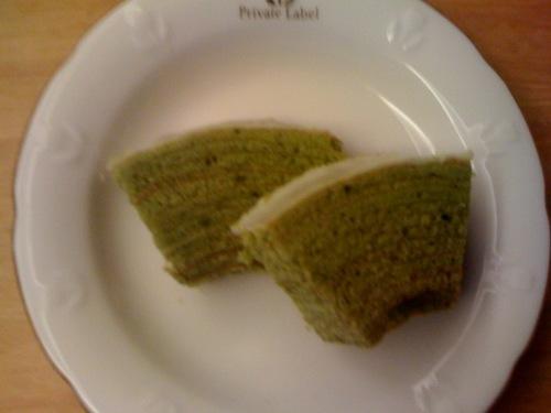 欧風洋菓子フレンド抹茶のバウムクーヘン